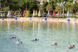 Aqua fitness in the Wave Lagoon - Accommodation Find